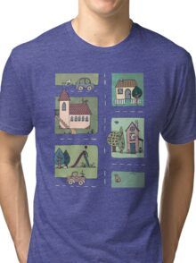 An Even Quieter Afternoon in Town Tri-blend T-Shirt