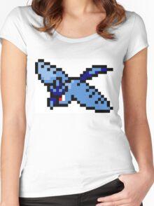 Pokemon 8-Bit Pixel Articuno 144 Women's Fitted Scoop T-Shirt