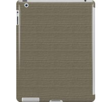 Desert Taupe Wood Grain Texture Color Accent iPad Case/Skin