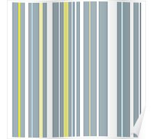 Muted Stripes Alternative Barcode Poster