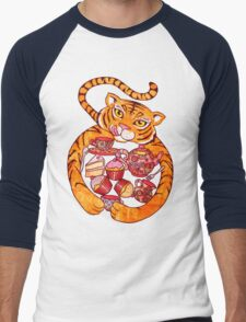 The Tiger Who Came To Tee Men's Baseball ¾ T-Shirt