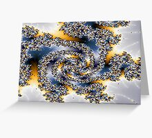 Beautiful lacy swirls in blues and yellow Greeting Card