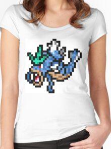 Pokemon 8-Bit Pixel Gyarados 130 Women's Fitted Scoop T-Shirt