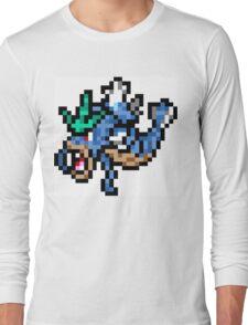 Pokemon 8-Bit Pixel Gyarados 130 Long Sleeve T-Shirt