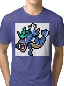 Pokemon 8-Bit Pixel Gyarados 130 Tri-blend T-Shirt