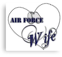 Air Force Wife Canvas Print
