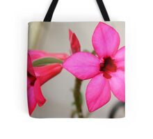 Twin Pink Tropical Floras  Tote Bag