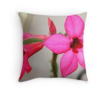 Twin Pink Tropical Floras  Throw Pillow