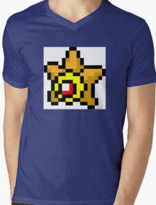 Pokemon 8-Bit Pixel Staryu 120 Mens V-Neck T-Shirt
