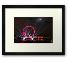 London Eye Full Moon Framed Print