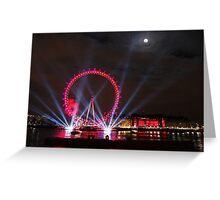 London Eye Full Moon Greeting Card