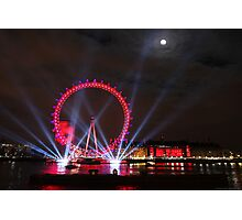 London Eye Full Moon Photographic Print
