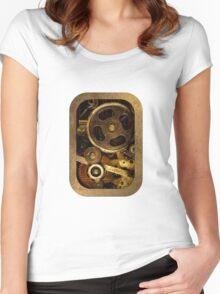 Mechanical Heart - Steampunk Women's Fitted Scoop T-Shirt