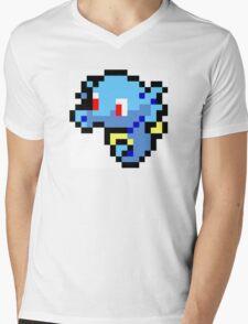 Pokemon 8-Bit Pixel Horsea 116 Mens V-Neck T-Shirt
