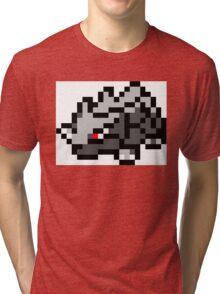 Pokemon 8-Bit Pixel Rhyhorn 111 Tri-blend T-Shirt