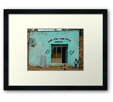 One for the Road Snack Framed Print