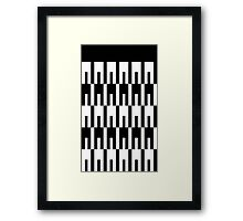 Intertwined Pegs Framed Print