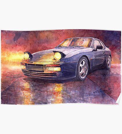 Porsche 944 Turbo 1987 Poster