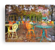 Autumn on the Terrace Canvas Print