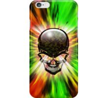 Crystal Skull on Psychedelic Flames iPhone Case/Skin