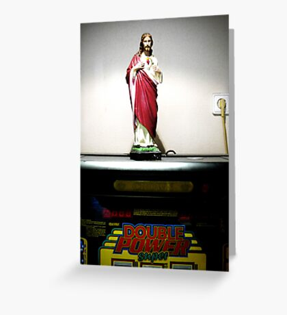 double power super Greeting Card