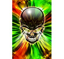 Crystal Skull on Psychedelic Flames Photographic Print