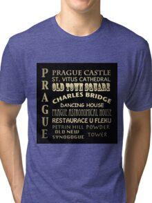 Prague Famous Landmarks Tri-blend T-Shirt
