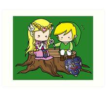 Zelda X Link Art Print