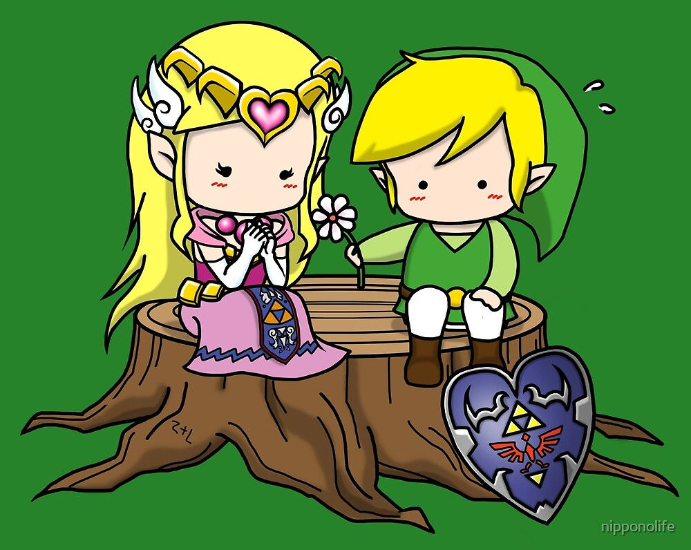 Zelda X Link by nipponolife