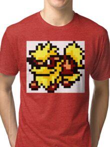 Pokemon 8-Bit Pixel Arcanine 059 Tri-blend T-Shirt