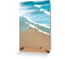 Surfing in Small Big Ocean Greeting Card