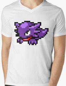Pokemon 8-Bit Pixel Haunter 093 Mens V-Neck T-Shirt