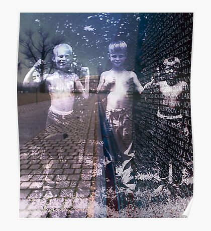 The Vietnam Wall with Ghost Children Poster
