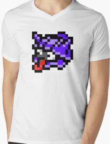 Pokemon 8-Bit Pixel Shellder 090 Mens V-Neck T-Shirt