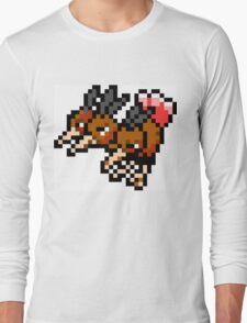 Pokemon 8-Bit Pixel Dodrio 085 Long Sleeve T-Shirt