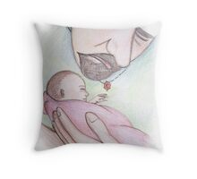 A Father's First Embrace Throw Pillow