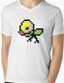 Pokemon 8-Bit Pixel Bellsprout 069 Mens V-Neck T-Shirt
