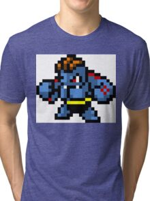 Pokemon 8-Bit Pixel Machoke 067 Tri-blend T-Shirt