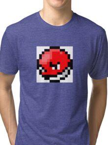 Pokemon 8-Bit Pixel Voltorb 100 Tri-blend T-Shirt