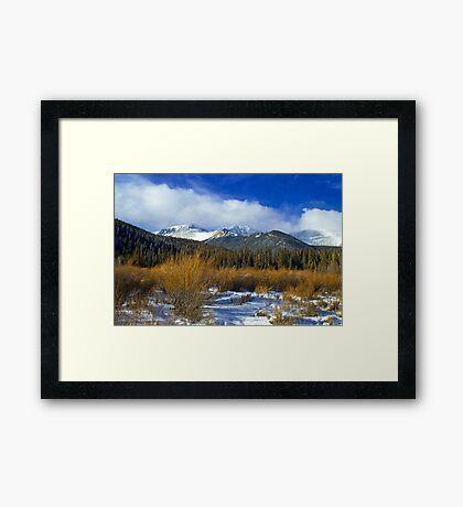 A Colorado Winter  Framed Print