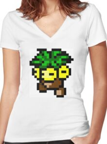 Pokemon 8-Bit Pixel Exeggutor 103 Women's Fitted V-Neck T-Shirt