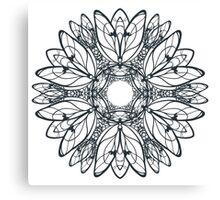 Abstract circular pattern of mandala Canvas Print