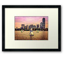 Sails, Boston, MA, USA Framed Print