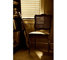 Guitar Chair Photographic Print