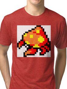 Pokemon 8-Bit Pixel Parasect 047 Tri-blend T-Shirt