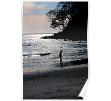 sunset in costa rica Poster
