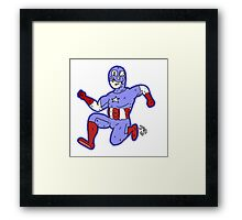 Captain America! Framed Print