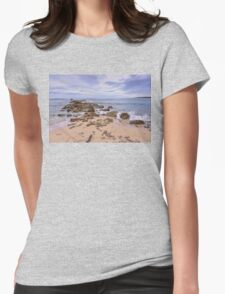 Seascape With Rocks Womens Fitted T-Shirt