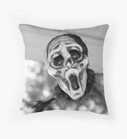 Scary Hallow Throw Pillow