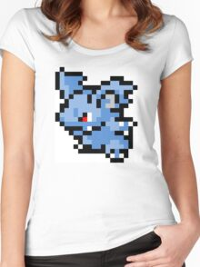 Pokemon 8-Bit Pixel Nidorina 030 Women's Fitted Scoop T-Shirt